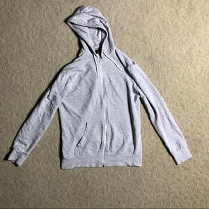 H&M gray regular fit hooded jacket in medium
